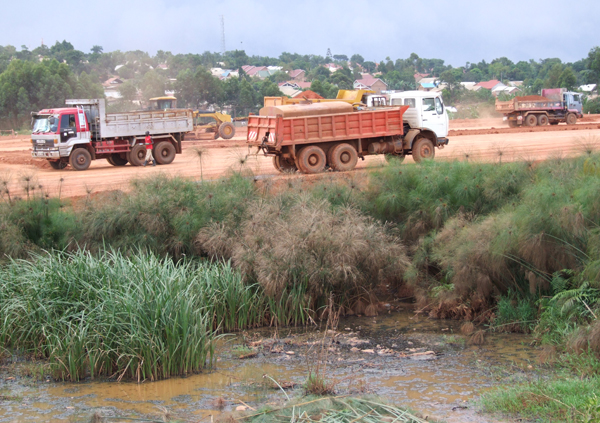 Encroachment on Lubigi wetland